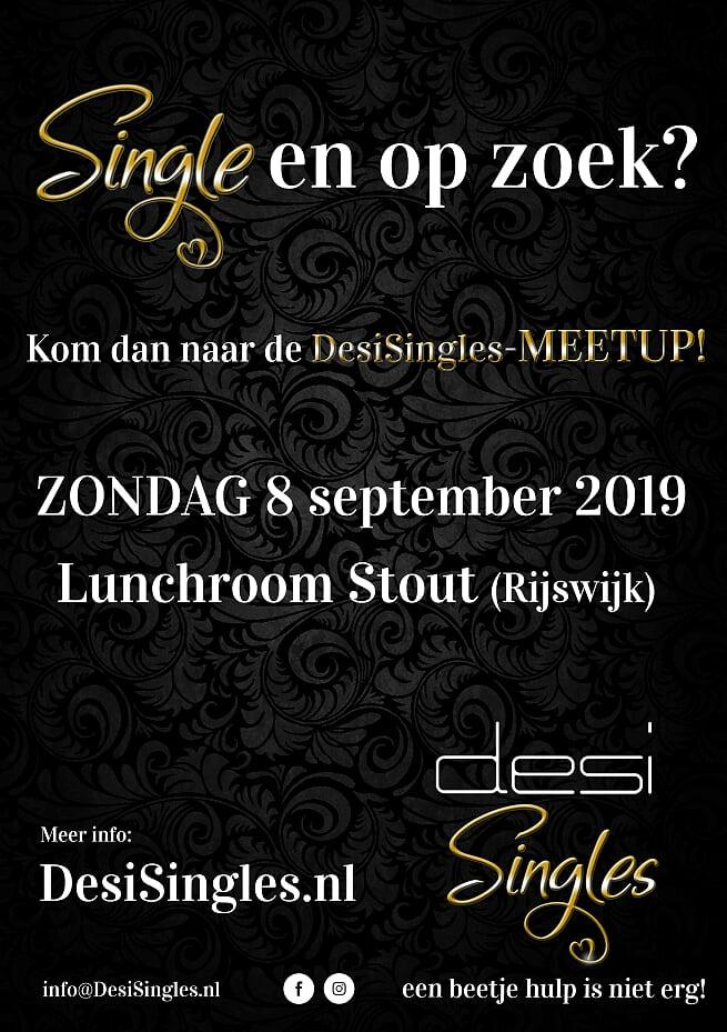 DesiSingles eerste Meetup 8 september Lunchroom Stout